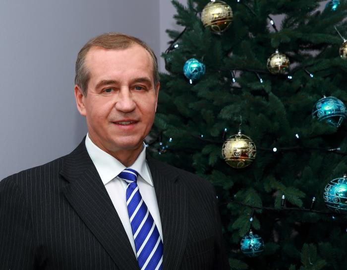 Губернатор Иркутской области Сергей Левченко поздравил жителей региона с Новым годом
