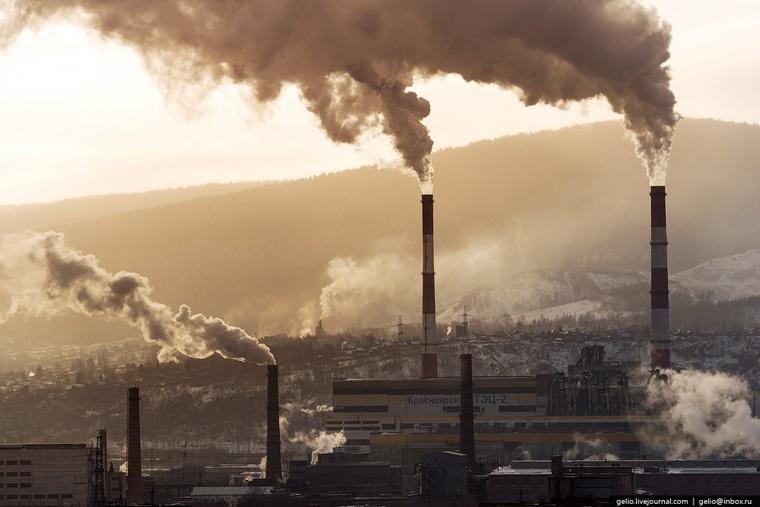 Красноярск вошел в число российских городов с самым грязным воздухом