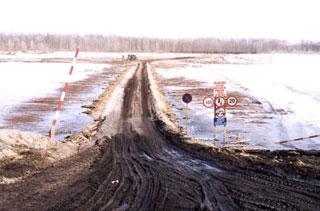 В Тайшетском районе закрыли зимник через Бирюсу