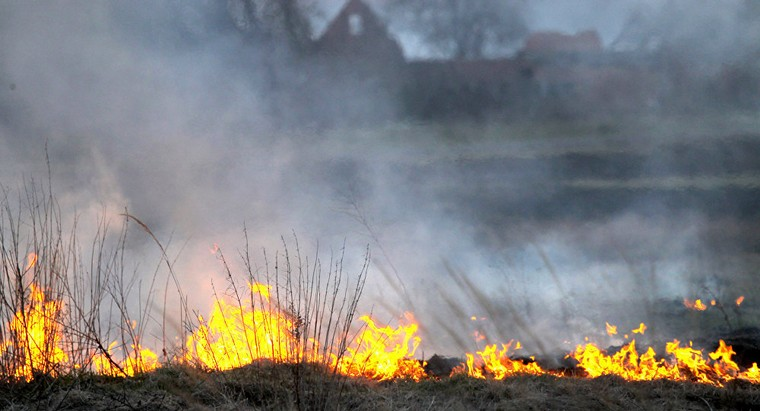 Новобирюсинск в дыму