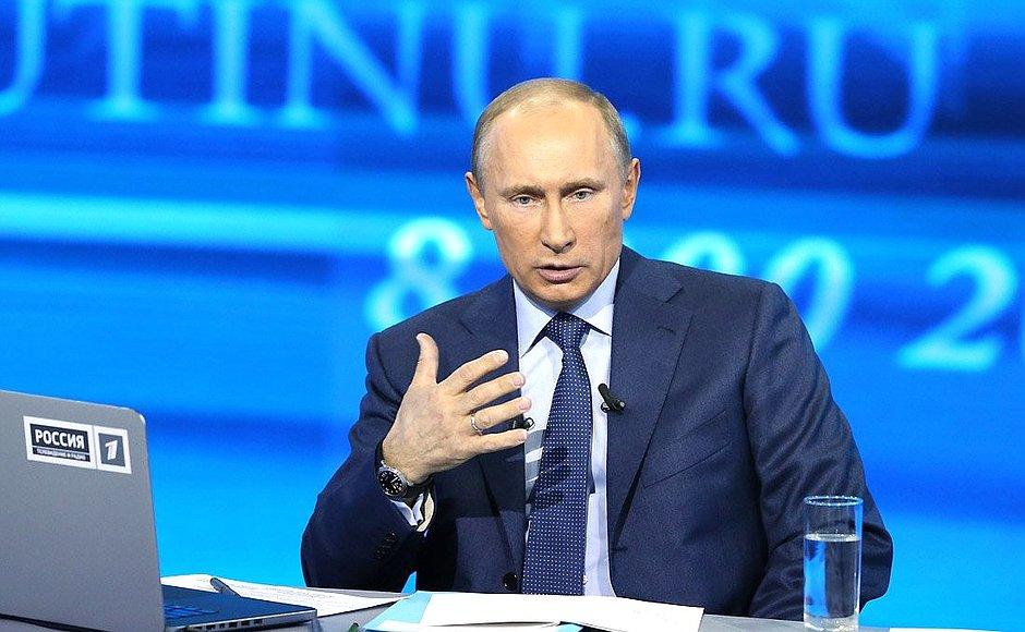 Жители Приангарья 14 апреля смогут задать вопросы Владимиру Путину во время прямой линии
