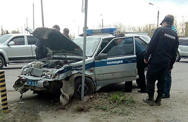 В Тайшете столкнулись два автомобиля, один из которых принадлежит вневедомственной охране