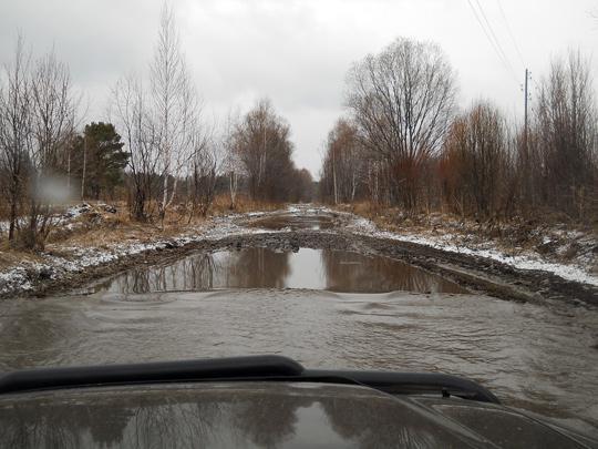 Таких озёр на пути от Талой до Георгиевки - добрая сотня. Завязнуть - надолго и всерьёз - запросто можно в любом из них.