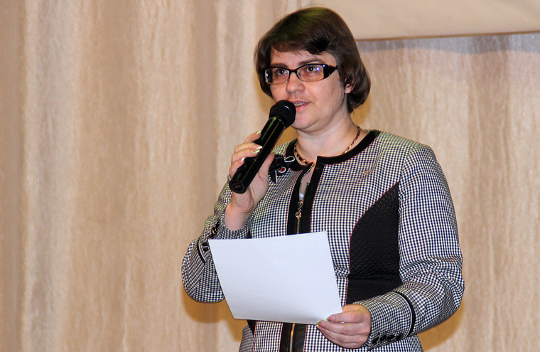 Последняя песнь главы Бирюсинска прозвучала во время её отчёта.