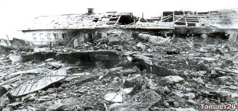 Место падения самолёта вблизи деревни Мамоны.