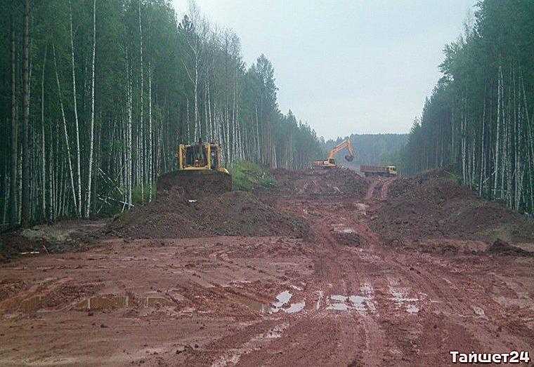 25-тонные большегрузы при строительстве дороги Тайшет-Чуна-Братск разбили две дороги