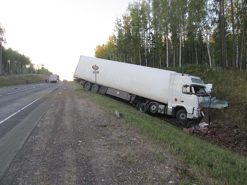 В Тайшетском районе полиция разбирается в обстоятельствах гибели водителя при столкновении двух грузовиков