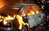 Ночью на развилке возле кафе «Саяны» сгорел автомобиль «ВАЗ»
