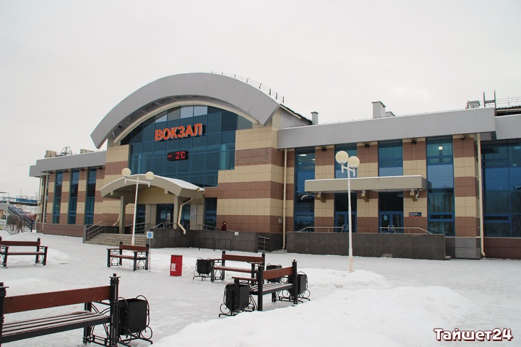 """Железнодорожный вокзал станции Вихоревка. Фото из архива ИА """"Тайшет24""""."""
