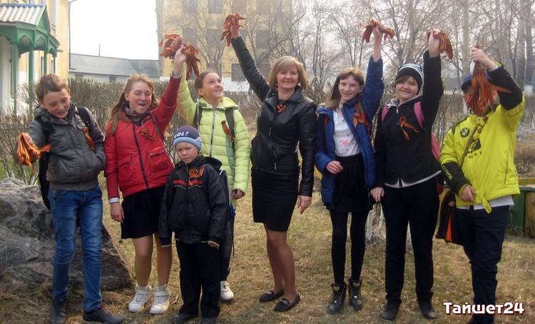 ВАлеппо прошла акция «Георгиевская ленточка»