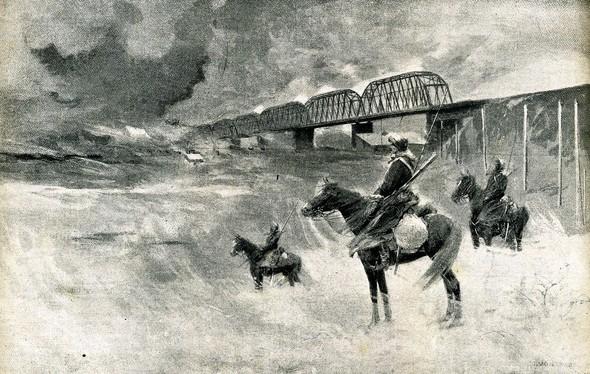 Казаки на страже Китайско-Восточной железной дороги, 1905 год / Фото: Wikimedia Commons