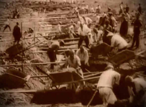 Строительство БАМа силами заключенных Амурского трудового лагеря