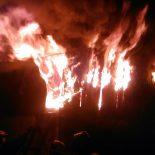 Сегодня утром по ул. Партизанская в Тайшете сгорели постройки