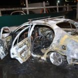 Машина взорвалась на улице Пискунова в Иркутске