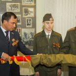 Копию знамени 114-й Свирской дивизии передали музею боевой славы Иркутска