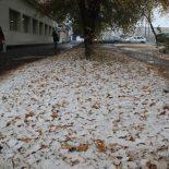 Первый снегопад в Тайшете. Фотоэтюд