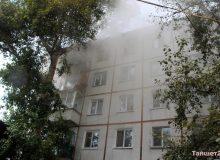 В центре Тайшета из-за взрыва микроволновки загорелась квартира на пятом этаже