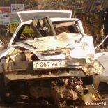 В Бирюсинске «девятка» врезалась в бензовоз. Один из водителей оказался в больнице