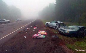 В ДТП между Тайшетом и Нижнеудинском из-за пьяного гонщика погибла женщина и пять человек получили травмы