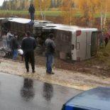 В Иркутской области перевернулся автобус с 50 пассажирами: один погиб, пятеро в больнице