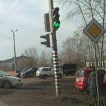 Фотофакт. Два ДТП за день на одном перекрёстке произошло в Тайшете