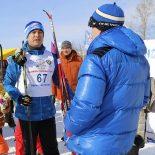Дистанцию в 10 километров пробежал депутат Сергей Тен на Всероссийской лыжной гонке