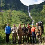 Второй по высоте водопад России находится на границе Иркутской области и Красноярского края