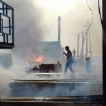 В Тайшете произошёл пожар на пилораме